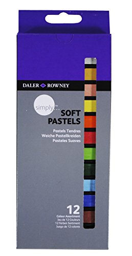 Daler Rowney - 157500112 - Kit De Loisirs Créatifs - 12 Pastels Tendres Simply
