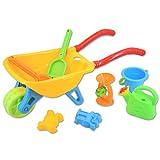 DeAO Set de juego para jardín y playa de carretilla, para actividades...