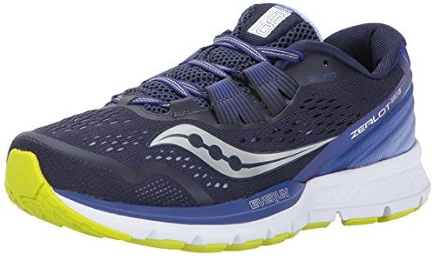 ホイッスル作曲家セッションSaucony Women's Zealot ISO 3 Running Shoe Navy Purple 10.5 Medium US [並行輸入品]