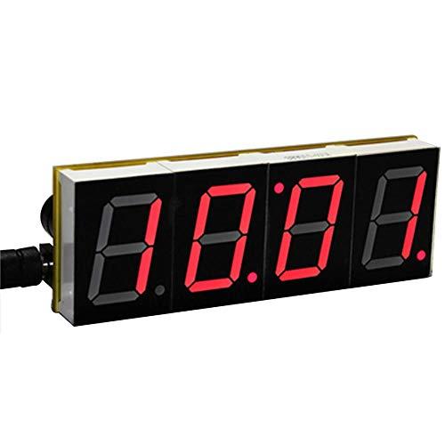 shanghui Pantalla LED Digital Relojes de Mesa Digitales de Escritorio Microcontrolador electrónico Kit de Reloj Pantalla Grande Pantalla Time-Red