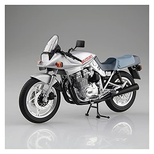 Boutique Qingdao Club 1/12 para Suzuki GSX1000S Simulación De Motocicleta Modelo Locomotora Estática Decoración Colección Adultos (Color : Azul)