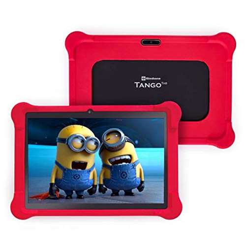 Simbans TangoTab 10 Inch Kids Tablet with RED Case, 3GB RAM, 64GB Disk, Android 9 - TK93