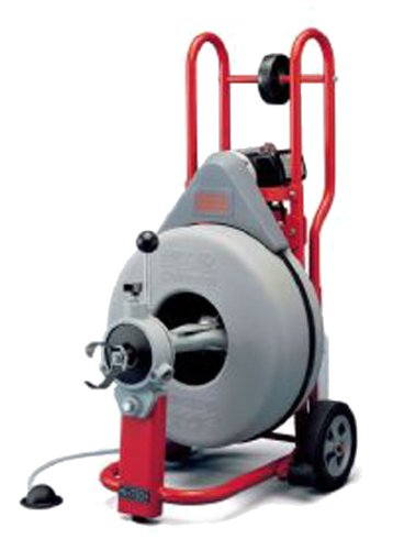 Ridgid 47047 K-750 Drum Machine with C-24 5/8 Inch x 100 Foot Drain Cleaning Cable and AUTOFEED Control, Drain Cleaning Machine