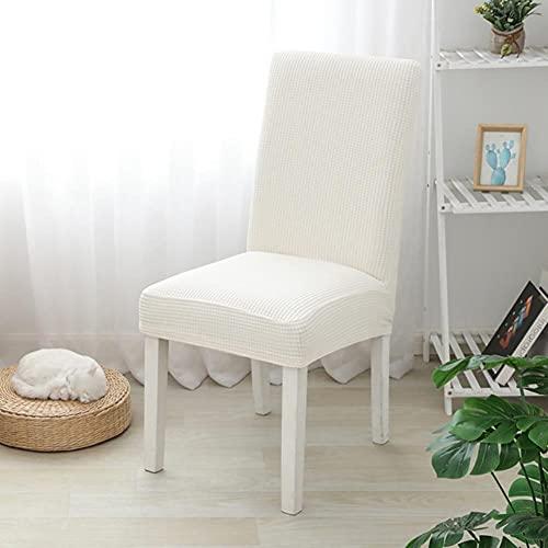 UKKO Fundas sillas de Comedor Jacquard Cubierta para La Silla De Comedor Spandex Elástico Estiramiento Long Back Schaut Schaver Case para Sillas Cocina Hotel Boda