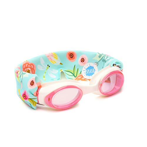 SPLASH SWIM GOGGLES - Blossom - Fun, Fashionable, Comfortable - Fits Kids & Adults - Won't Pull Your Hair - Easy to Use - High Visibility Anti-Fog Lenses - ORIGINAL PATENT PENDING DESIGN