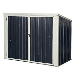 COSTWAY Cobertizo de Jardín de Exterior 173 x 97x 134Centímetros Caja de Almacenamiento Caseta de Herramienta de Metal (Gris Oscuro/Negro)