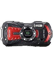 Pentax RICOH WG-60 rode waterdichte camera hoge resolutie beelden met 16 MP waterdicht tot 14 m schokbestendig tot valhoogte van 1,6 m onderwatermodus ring met 6 leds voor macro-opnamen