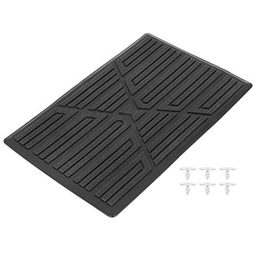 X AUTOHAUX Universal Car Vehicles Trucks Floor Carpet Mat Patch Heel Scuff Plate Foot Rest Pedal Pad