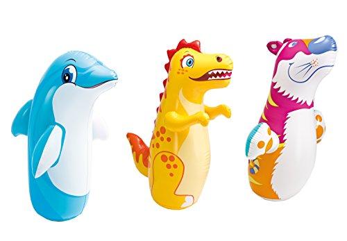 Color Baby - Animal hinchable tentetieso, modelos aleatorios, 1 unidad