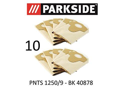 Parkside 10 Staubsaugerbeutel 20 L PNTS 1250/9 Lidl BK 40878 braun 906-05 Nass Trocken Sauger
