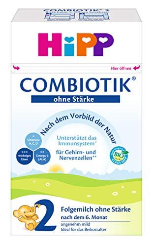 HiPP 2 Bio ComBiotik, folgemilch ohne Stärke nach dem 6. Monat, 4er Pack (4 x 600 g)