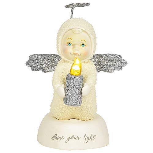 Department 56 Snowbabies Peace Shine Your Light Figurine, 4.25 Inch, Multicolor
