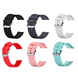 Chofit 6 Packs Bands Compatible with AMENON Fitness Tracker Watch for Women and Men, Soft Silicone Waterproof Quick Release Sports Strap for AMENON Fitness Tracker Watch