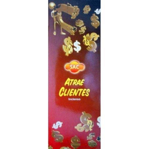 Incienso SAC Atrae Clientes (olor a jazmin y ambar) - Set de 6 paquetes hexagonales