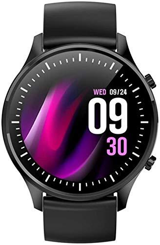 SHIJIAN Reloj inteligente de moda para mujer, reloj impermeable, monitor de ritmo cardíaco, deportes diferentes para hombres y mujeres-C
