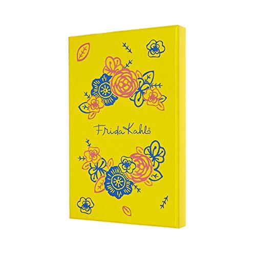 Moleskine Cuaderno Edición Limitada Frida Kahlo, Cuaderno con Páginas Blancas, Tapa Dura, Caja de Colección, Tamaño Grande A5 de 13 x 21 cm, Color Amarillo y Azul, 240 Páginas