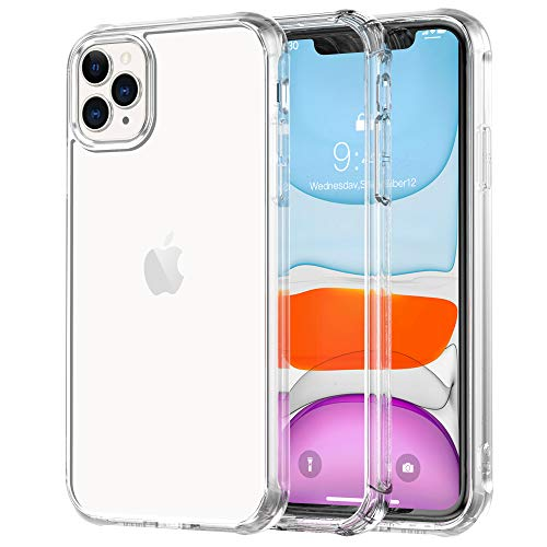 Legfes Phone Case Compatible with iPhone 11 Pro – Crystal Clear iPhone 11 Pro Case - Ultra Slim Fit Shockproof TPU Rubber Phone Case - Stylish and Minimalist Design– Anti-Scratch Raised Edges
