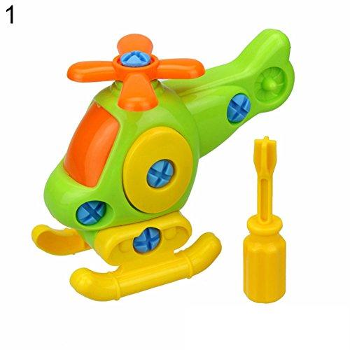 AchidistviQ Enfants bébé Early Learning Avion Démontage assemblée Puzzle Educational Toys, Plastique, Helicopter