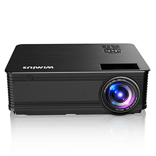 Projector, WiMiUS New P18 6800 Lumens 1080P Video Projector Support 200