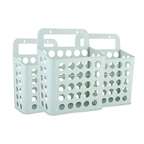 ZHIHQ Laundry Basket, Washing Baskets for Laundry 3 Pcs, Wall-Mounted, with Handle Drawstring Closure Lid And Waterproof Inner, Collapsable Laundry Hamper Storage Bin for Girls Bedroom Clothes
