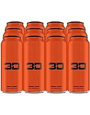 3D Energy Drink | Cafeïne, Nul Suiker, Taurine, Panax Ginseng, Inositol, Guarana Seed, L-Carnitine Tartraat, 12 x 473ml, Oranje