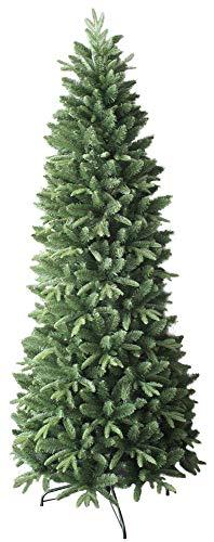 vanzetti Albero di Natale Artificiale 240 cm 75 Rami Slim Pino del Gargano Verde