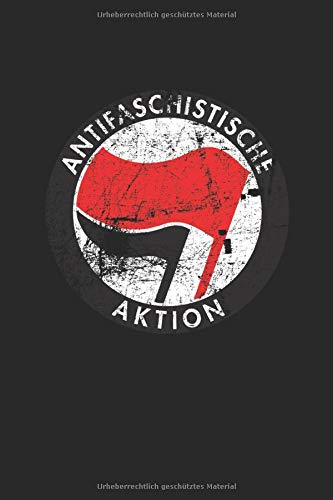 Antifaschistische Aktion: Notizbuch, kariert, 117 Seiten, A5
