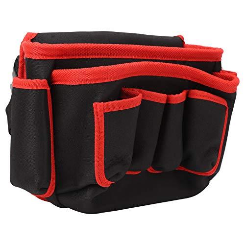 Bolsa de almacenamiento de herramientas duradera Bolsa de cinturón de jardín de alta capacidad, para fontanero, para acampar(Red edge)