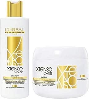 L'Oreal Professionnel X-Tenso Care Shampoo 250ml/8.45 fl oz + Masque 196g/6.91 oz (Sulfate Free - Paraben Free) Combo Pack