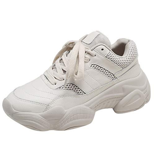 Zapatillas Cojín De Malla Corriendo Mujer Casual Platform-Bottom Zapatos Deportivos