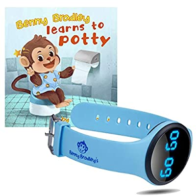 Benny Bradley's Potty Training Watch, with Potty Training eBook - Musical and Vibration Interval Reminders, Water Resistant, for Babies, Toddlers and Kids Potty and Toilet Training (Blue) by Benny Bradley's