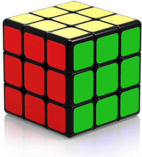 ROXENDA Original Cubo de Velocidad, QiYi Qihang W 3x3 Speed Cube - Giro Fácil y Juego Suave & Sólido Duradero ABS, el Mejor Cubo de Velocidad Puzzle (T4)