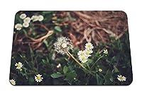 26cmx21cm マウスパッド (タンポポヒナギク草) パターンカスタムの マウスパッド