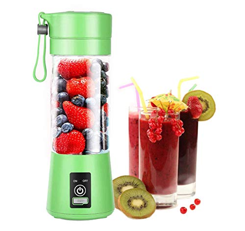 Aibenta Personal Blender, Portable Blenders Smoothie Mixer USB Rechargeable Juicer Cup with 6 Updated Blades, 380ml, Green