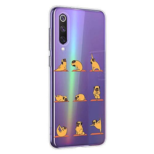 Oihxse Transparente Funda para Xiaomi Redmi Note 4X/Note 4 Ultrafina Silicona Suave TPU Carcasa Interesante Perro Patrón Flexible Protectora Estuche Antigolpes Anti-Choque (A2)