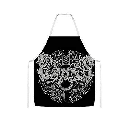 Ives Jean Apron Bib Apron Waterproof Oil-proof Cooking Kitchen for Women Men Amon Amarth Logo Bib Apron for Barbecue