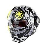 Casco de motocicleta de cara completa certificado D.O.T Casc