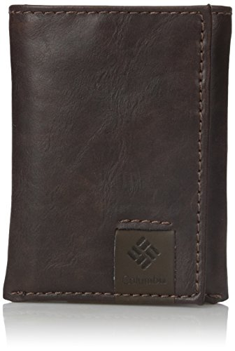 Columbia Men's RFID Blocking Leather Slim Trifold Wallet, LoftonBrown, One Size