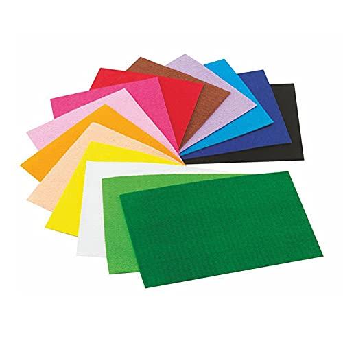 Faibo 944491 - Pack de 10 hojas gomas Eva, 40 x 60 mm, multicolor