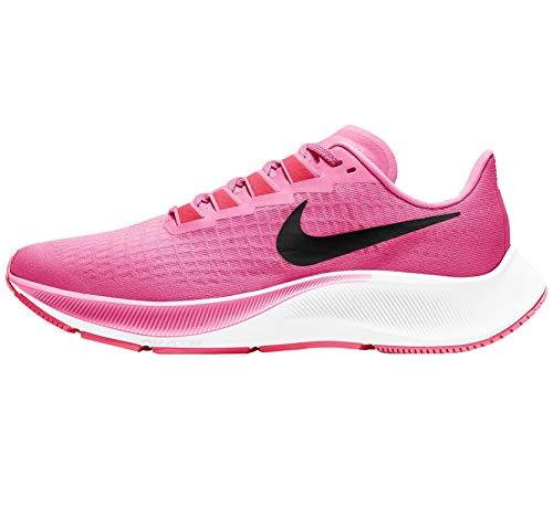 Nike Women's Air Zoom Pegasus 37 Trail Running Shoe, Pink Glow/Black-Platinum Viole, 2.5 UK