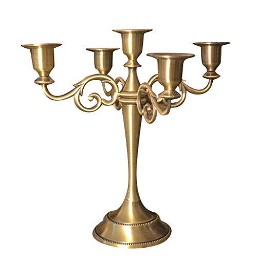 Metalen kroonluchter, Scandinavische eenvoud stijl kandelaar 5 armen kaars stand houder kaarslicht diner gift decoratie