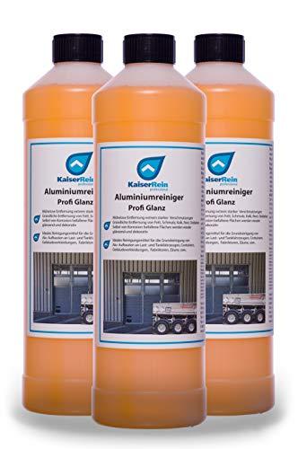 KaiserRein Aluminiumreiniger Profi Glanz 3 x 1L= 3L ist ein starker Grundreiniger für Aluminium Reiniger Alu-Reiniger