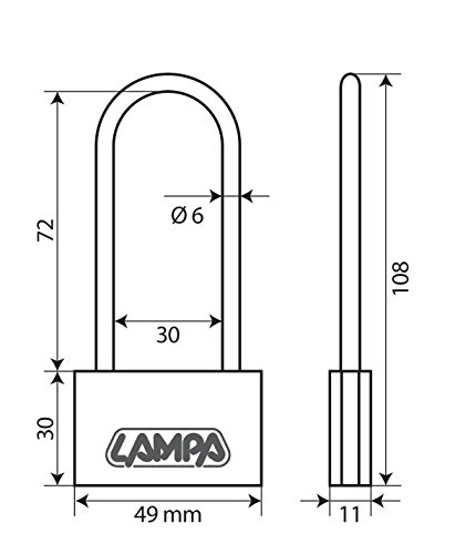 Lampa 65428 Basic hangslot, messing, 50 mm XL