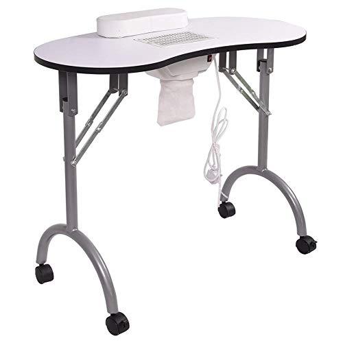 FMEZY Nagel Tafel Manicure Tafel Opvouwbaardraagbare Geventileerde Nagel Bureau Werkstation Salon Spa Met Nagel Stofzuiger entas