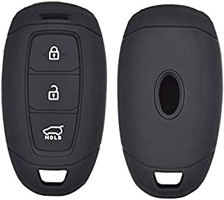 XUKEY 3 Tasten Silikon Autoschlüssel Hülle für Hyundai i30 Ix35 Solaris Azera Elantra Grandeur Ig Accent Santa Fe 2017 2018 Abdeckung Keyless Schlüsselanhänger