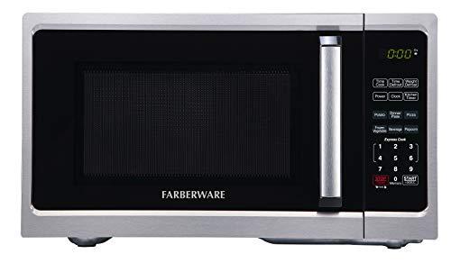 Farberware Classic FM09SS 0.9 Cu. Ft 900-Watt Microwave Oven, Stainless Steel