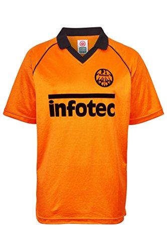 ScoreDraw Herren Retro - Trikot Eintracht Frankfurt | Auswärtstrikot 1981 in Orange, Größe: XXL