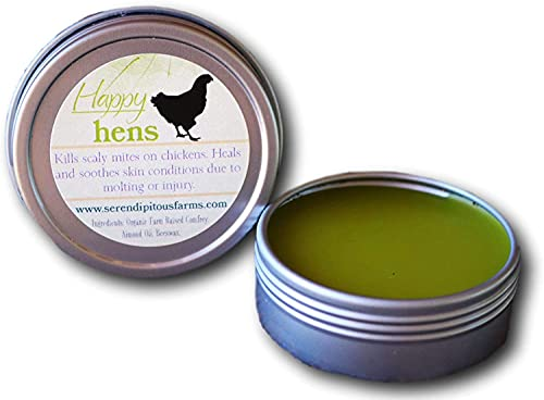 Serendipitous Summer Farms Happy Hens- All Purpose First Aid Poultry Balm. 100% Natural and Organic Comfrey Salve. for Pecking Wounds/Sores