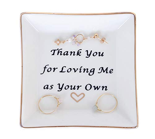 Gift for Mom Ring Dish Square Trinket Tray - Thank You for Loving Me...
