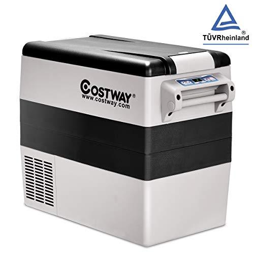 COSTWAY 52L Elektrische Kühlbox tragbar, Autokühlbox AC110V-240V/DC12V/24V, Gefrierschrank Auto, Reisekühlschrank